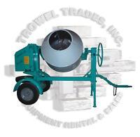 IMER WORKMAN 250 ELECTRIC Concrete Mixer 9CF Imer 1105851 1.5HP Electric 1 Phase