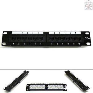 """10"""" Cat5E 12 Port RJ45 Patch Panel Miniline SOHO UTP Ethernet Network Data Lan"""