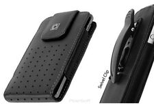 Leather Holster Case Pouch for Apple iPod Touch 6th+5th Gens. w/Swivel Belt-Clip