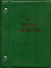 VST AUSTRALIAN COIN ALBUM for 50c COLLECTION 1966 to 2016 MINTAGES PRINTED