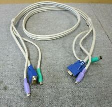 KVM Switch Cable 1.8M VGA 14 Pin Male PS/2 To VGA 14 Pin Male PS/2