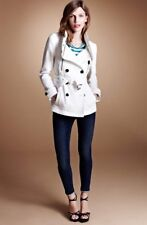 Burberry Brit 'Wilford' Double Breasted Trench Coat, White/cream, Size 10, $895