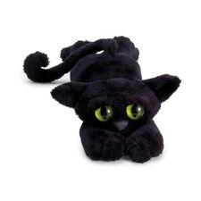 NEW PLUSH SOFT TOY Manhattan Ziggie the Black Lanky Cat 30cm Green Eyes