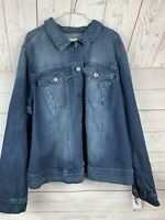NWT Jessica Simpson Women's Peony Relaxed Denim Jacket - 3X PLUS SIZE