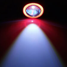 "2pcs 2.5"" Red COB LED Fog Light Projector Car Angel Eye Halo Ring DRL Lamp"
