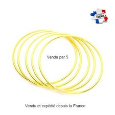 Lot 5 Bracelet Rigide Jonc Femme Lisse Or jaune GF