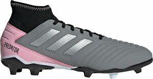 adidas Women's Predator 19.3 FG Soccer Cleats F97528 Grey/Silver/Black BX 30