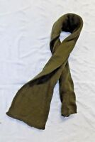 US Army Wool Scarf USGI Military Cold Weather OD Green Tube Double Knit