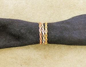 Ring ~835er-Silber Tri-Color, 3 bewegliche Ringe~; 1970er-1980J. unbenutzt