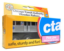 "Munipals MP03-11PK Wooden Subway ""L"" Train Chicago CTA Pink Line Cicero"