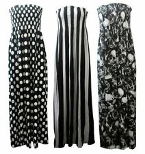 Viscose Stripes Machine Washable Plus Size Dresses for Women