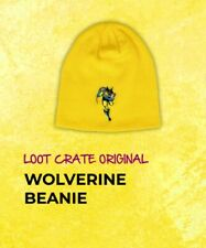 "X-MEN ""WOLVERINE BEANIE"" LOGAN HAT Yellow LootCrate Marvel Gear+Goods Exclusive"