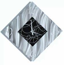 DYNAMIC ART CLOCK Metal Wall Art Abstract Silver Black Clock Decor by Jon Allen