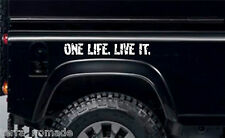 One Life Live It, adesivi, Land Rover, CAMEL TROPHY, 4x4 OFF ROAD, Divertente