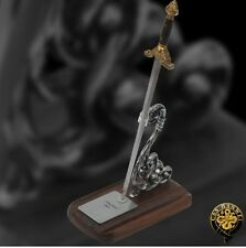 Miniature Qing Sword Letter Opener with Display Stand