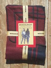 Woolrich Reversible Jacquard Blanket Wrap * Womens One Size * Merlot / Navy NEW