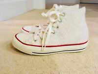 Converse Wool cream Winter Knit Hi Top Chuck Taylor Sneakers 37 4uk sold Out