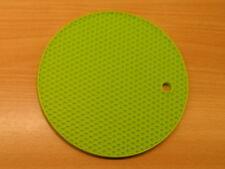 4x Green Silicone Honeycomb Round Trivet  Heat Resistant Potholder Mat Flexible
