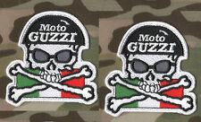CAFÉ RACER ROCKERS 59 TON-UP-BOY OUT-LAW BIKER PATCH SET: Moto Guzzi Italia X 2