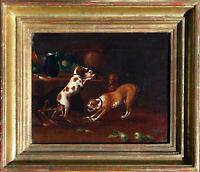 Jan Fyt 1611-1661 Antwerpen: 4 Hunde in Küche Ölgemälde Stilleben Niederlande