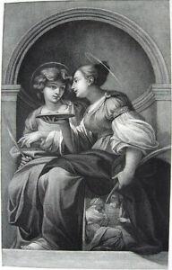 PRETTY GIRLS ANGELS SAINT LUCIA LATIN CHURCH APOLLONIA, 1886 Art Print Engraving
