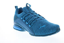 Puma Axelion Ultra 19413403 Mens Blue Canvas Lace Up Athletic Running Shoes