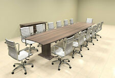 Modern Contemporary Boat Shaped 16' Feet Conference Table, #MT-STE-C17