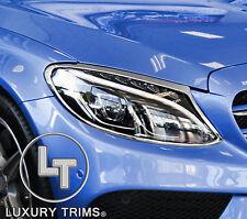 Mercedes C Class W205 Chrome Headlight Trim Bezels by Luxury Trims 2015-2016