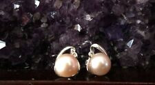 Freshwater Pearl Earrings With Crystal/925 Sterling Silver With White Gold Plate