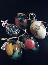 5 Easter Eggs - 1 Ceramic and 4 glass some hand painted