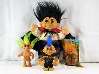 1985 DAM Leo The Lion Troll Doll No. 59523 & 1990's Doomslayer, Dracula & Rocker