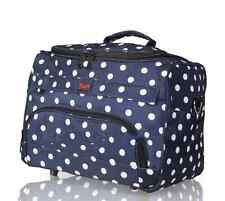 HAIRDRESSING BEAUTICIAN MOBILE BAG HAIR TOOL CASE/CARRY STRAP BLUE POLKA DOTS