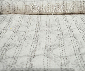 Hand Block Print Indian Cotton Bedding Bedspread Kantha Quilt Twin Crazy Blanket