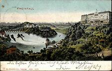 Laufen-Uhwiesen Schweiz Zürich AK 1906 Rheinfall Wasserfall Schloss Landschaft