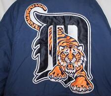 Vintage Detroit Tigers Starter Jacket Coat Long Winter Warm Embroidered Navy XL