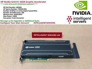 HP Nvidia Grid K1 16GB Graphic Accelerator   -  J0G94A / 788358-001