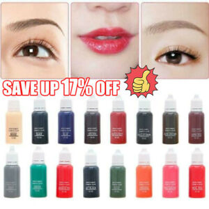 Semi Permanent Make-up Eyebrow Ink Lips Eye Tattoo Color Microblading Pigment