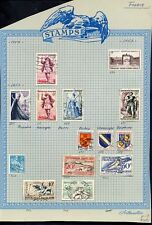 Lot of 130 French Stamps 1944-1953 France, Scott's Identified 505-704