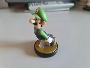 Official Nintendo Amiibo Luigi Figure Super Smash Bros No 15 Black Base