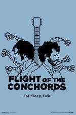 Flight of the Conchords Eat Sleep Folk Bret Jemaine HBO TV Show Poster - 12x18