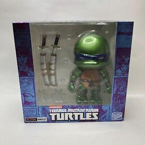 Loyal Subjects SDCC Teenage Mutant Ninja Turtles Metallic Jumbo Leonardo Signed