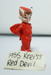 Vintage Glass Pixie Elf  Red Devil Kreiss & Company 1955