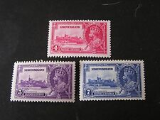 NEWFOUNDLAND, SCOTT # 226-228(3), 4c+5c+7c. VALUES 1935 SILVER JUBILEE ISS. MNH
