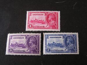 NEWFOUNDLAND, SCOTT # 226-228(3), 4c+5c+7c. VALUES 1935 SILVER JUBILEE ISS. MNH