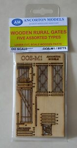 Ancorton Models 95775 Wooden Rural Gates 5 Assorted Types 00 Gauge Model Rail
