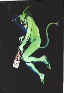 Vintage poster FRENCH APERITIF GREEN DEVIL c.2010