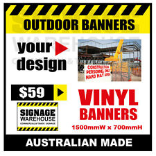 Custom Outdoor Vinyl Banner Sign  - 1500mmW x 700mmH Signage Warehouse