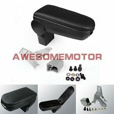 Black Leather Center Console Armrest Box For 99-04 VW Golf Jetta Bora MK4 GTI AM