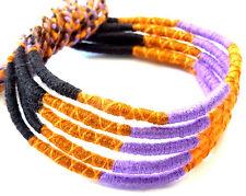 Lot 5 Bracelets Bresiliens de l'Amitié Macramé coton Friendship violet noir