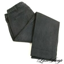 Celine Paris Made in Japan Black Washed Grey M_SK_003 Stretch Denim Jeans 32 NR